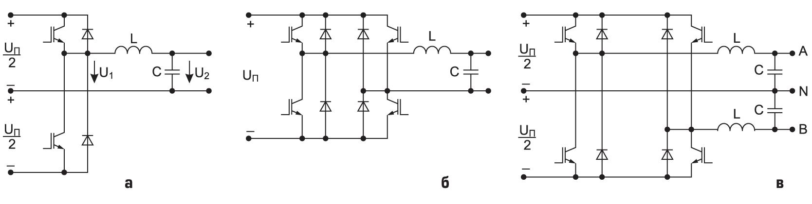 Структуры однофазных ШИМ-инверторов