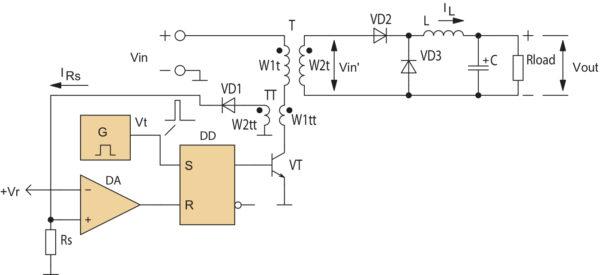 Упрощенная схема максимальной токовой защиты