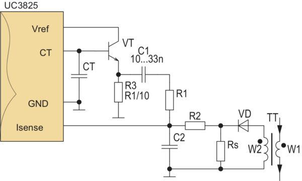 Схема слоп-компенсации токовой защиты