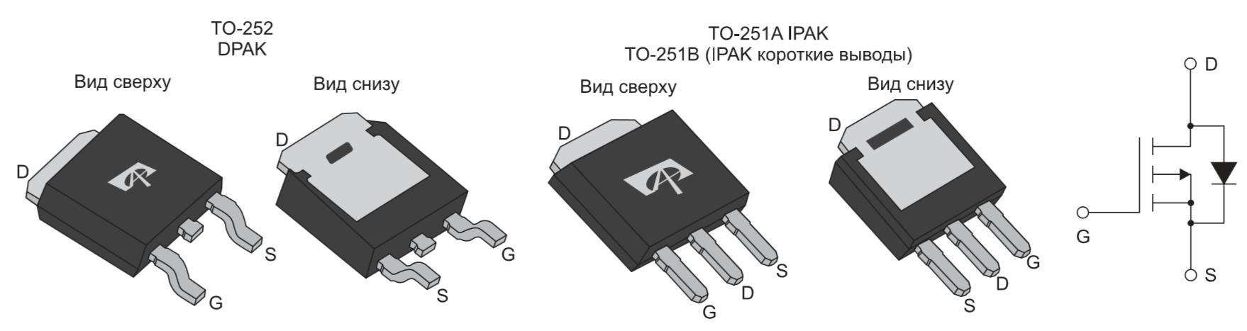 Корпуса ТО-252, ТО-251А