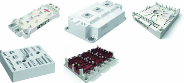Конструктивы силовых модулей (SEMiX/Econo Dual, SEMITRANS/62 мм, SEMITOP, MiniSKiiP, SKiM)
