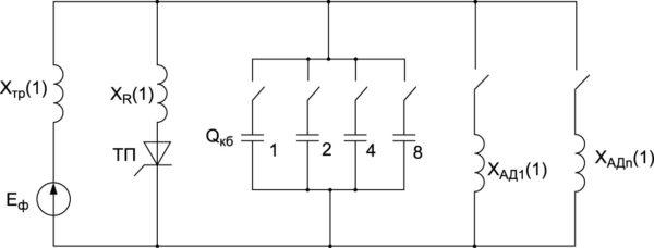 Схема замещения для первой гармоники