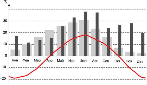 Годовой температурный график