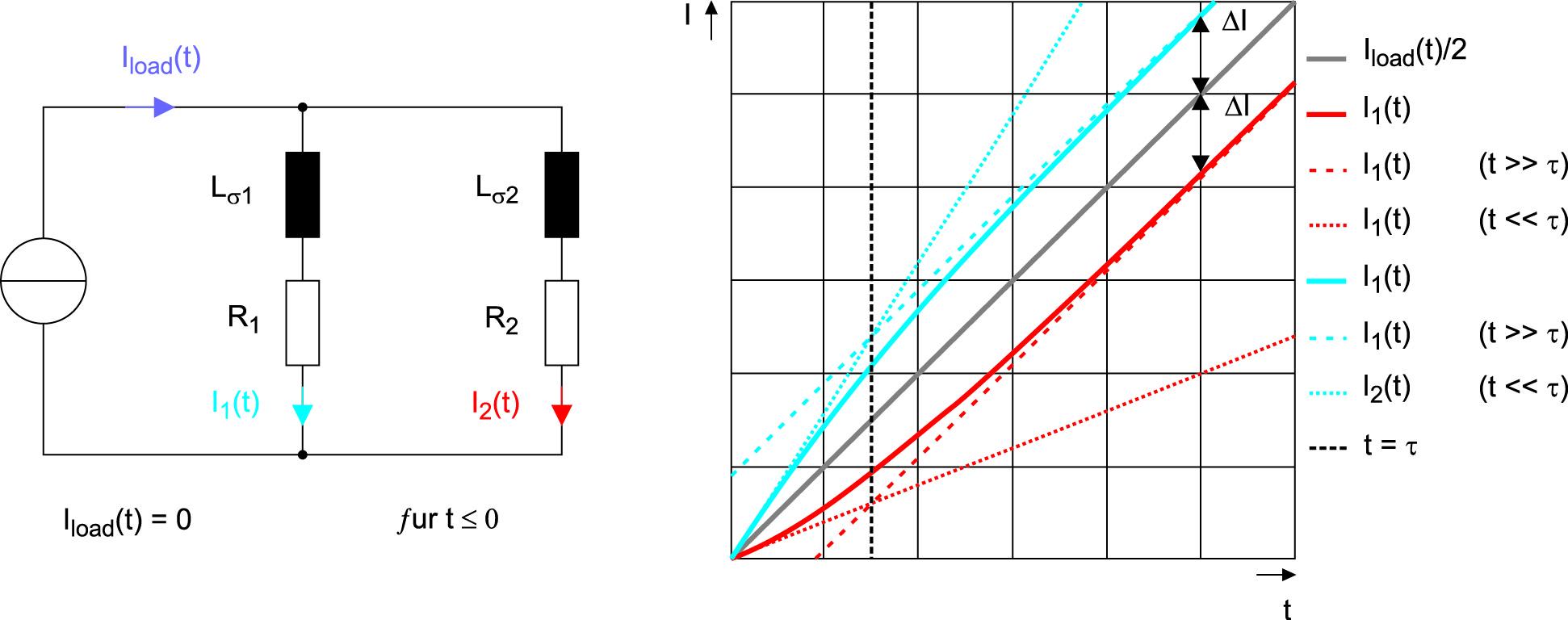 Эквивалентная схема двух параллельных токовых цепей