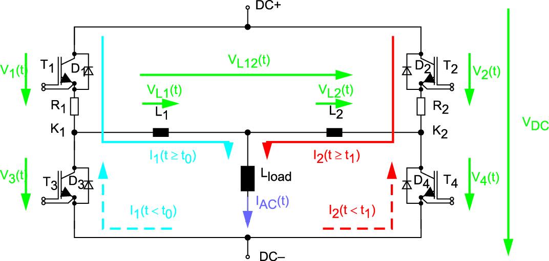 Эквивалентная схема для двух параллельных модулей