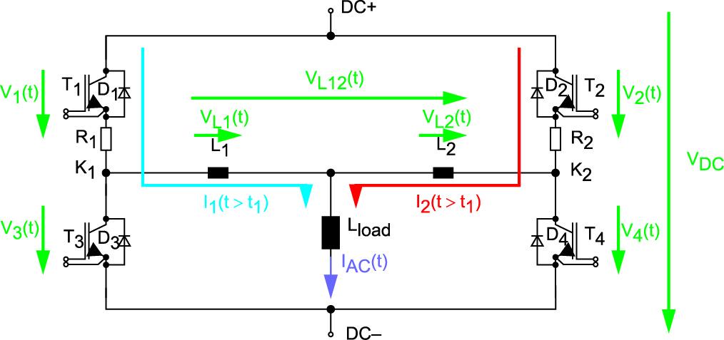 Эквивалентная схема для двух параллельных IGBT