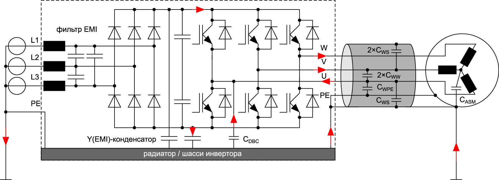 Упрощенная принципиальная схема привода