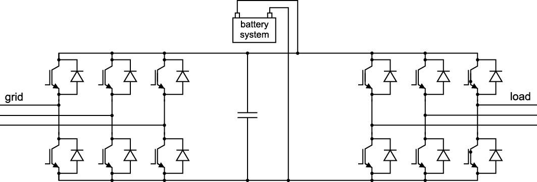 Упрощенная схема UPS