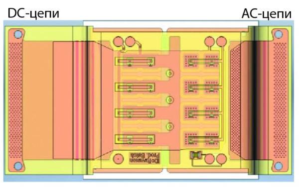 Топология SKiN-пленки на контактной поверхности чипов MOSFET