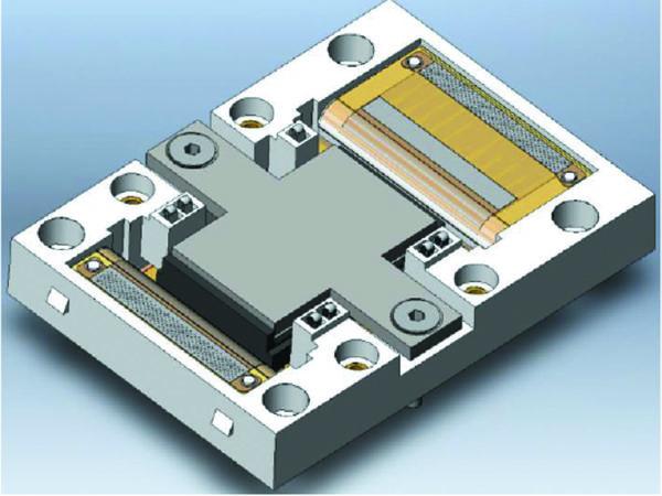 Конструкция модуля с сигнальными пружинными контактами и прижимными силовыми терминалами