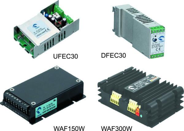 Внешний вид преобразователей серий UFEC30, DFEC30, WAF150W, WAF300W