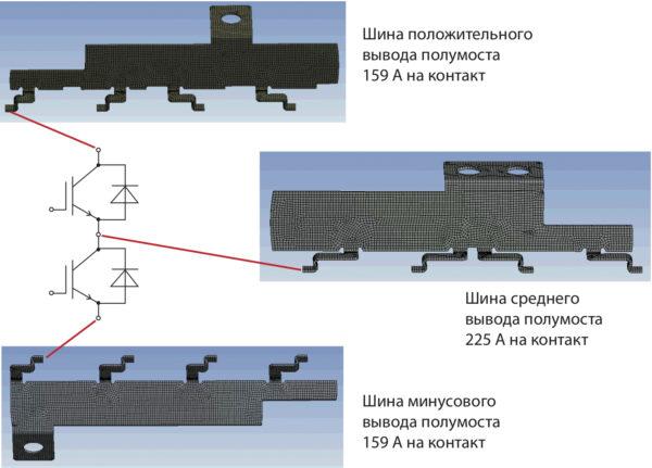 Схема полумостового каскада