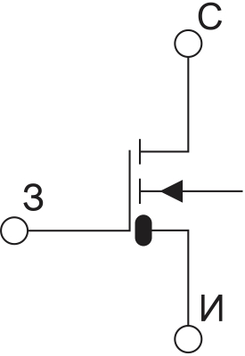 Символьное обозначение ДМОП-транзистора