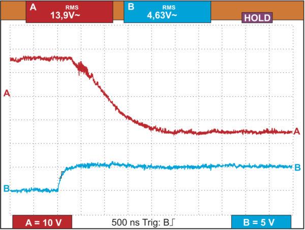 Процесс выключения транзистора