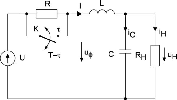 Схема стабилизатора напряжения с параметрическим управлением