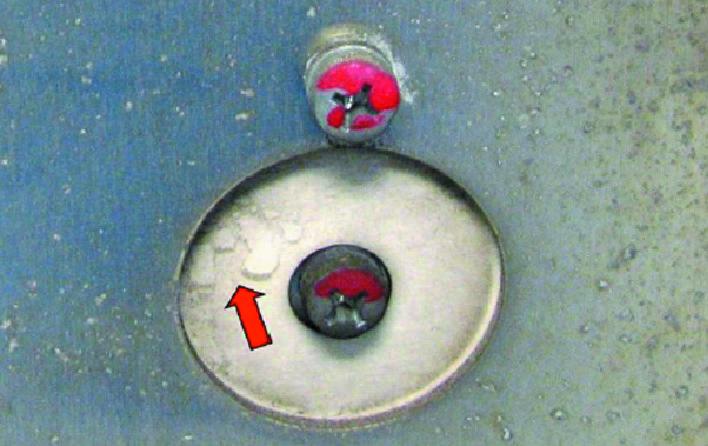 Следы присутствия жидкости на изоляции DC-шины