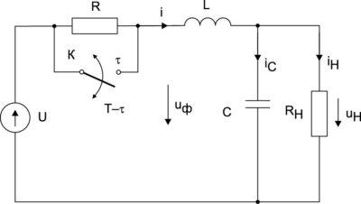 Схема стабилизатора с параметрическим управлением