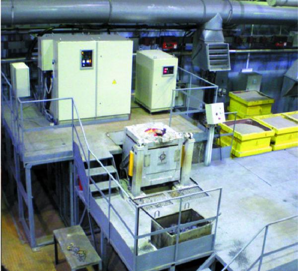 Установка плавильная с преобразователем частоты «Петра-0141» в составе индукционной печи