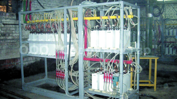 Конденсаторная батарея для индукционной печи