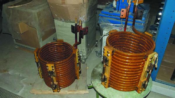 Индукторы для плавильных печей типа ИСТ