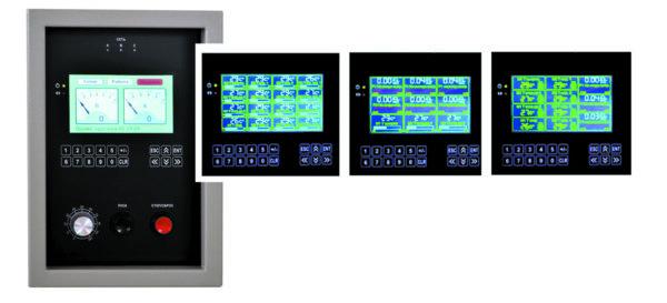 Лицевая панель микропроцессорного управления преобразователем (второй вариант)