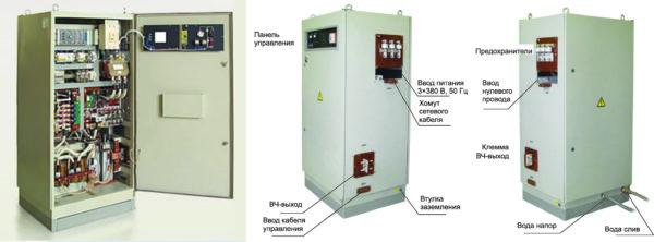 Общий вид преобразователя «Петра-0120» и подключение тиристорного преобразователя частоты