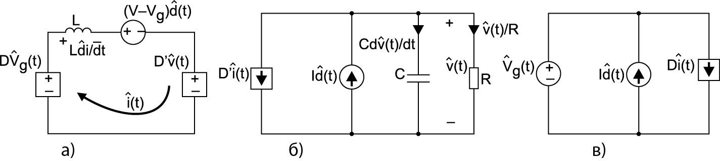 Эквивалентные схемы в соответствии с системой уравнений (43)