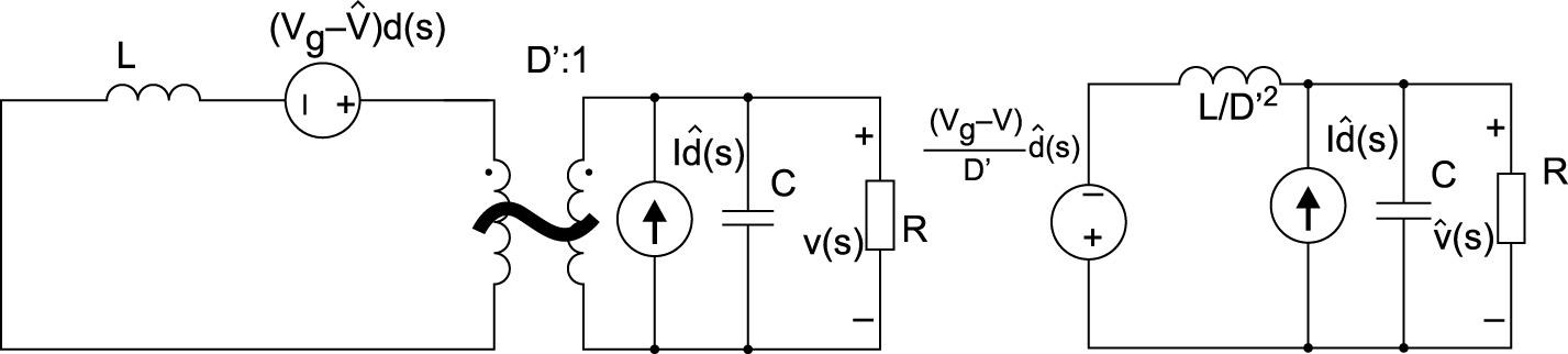 Эквивалентная схема для расчета передаточной функции Gvg(s)