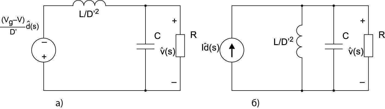 Эквивалентная схема для расчета передаточной функции Gvd(s)