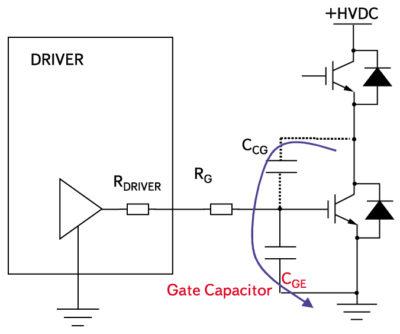 Дополнительный конденсатор между затвором и эмиттером