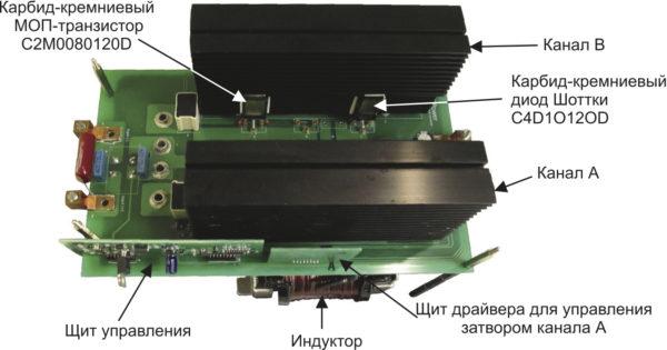 Повышающий конвертер с интерливингом мощностью 10 кВт на базе SiC MOSFET