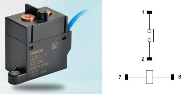 Реле G9EN-1 и схема коммутации контактов