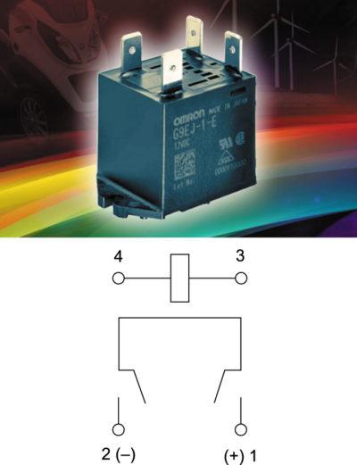 Реле G9EJ-1 и схема коммутации контактов