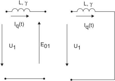 Схемы замещения АФ в периоде коммутации