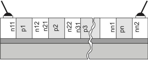 Структура высоковольтного полупроводникового ограничителя напряжения