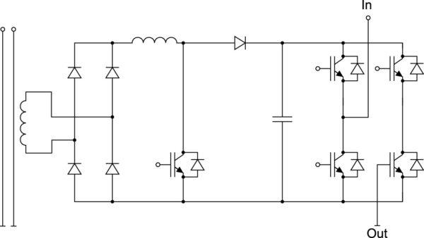 Ячейка MV-инвертора с однофазным ККМ