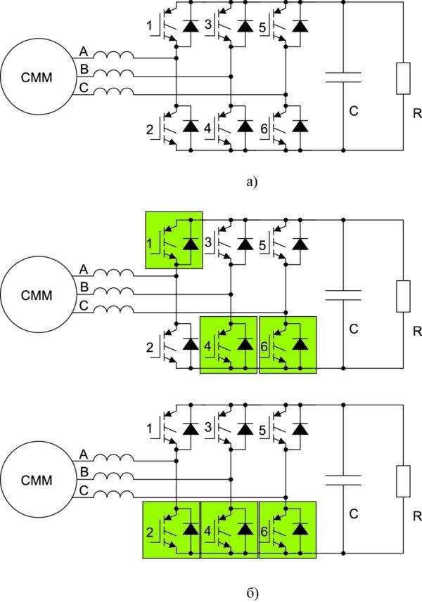 Схема и структуры силовой цепи системы «СММ–АВ»