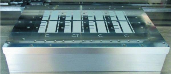 Окончательный вид слоя пасты (толщина 20 мкм, монтаж модуля SKiiP)