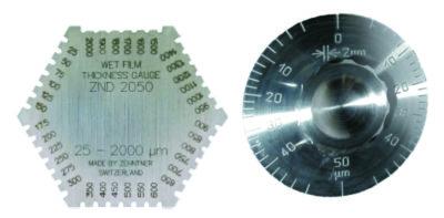 Измерители толщины слоя: гребенка и ролик