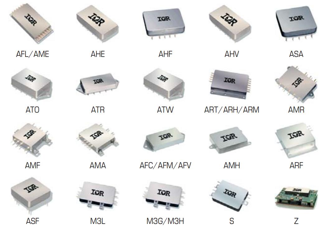 Внешний вид DC/DC-преобразователей и сетевых фильтров компании International Rectifier