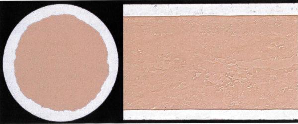 Сечение медного алюминизированного проводника в поперечном и продольном направлении