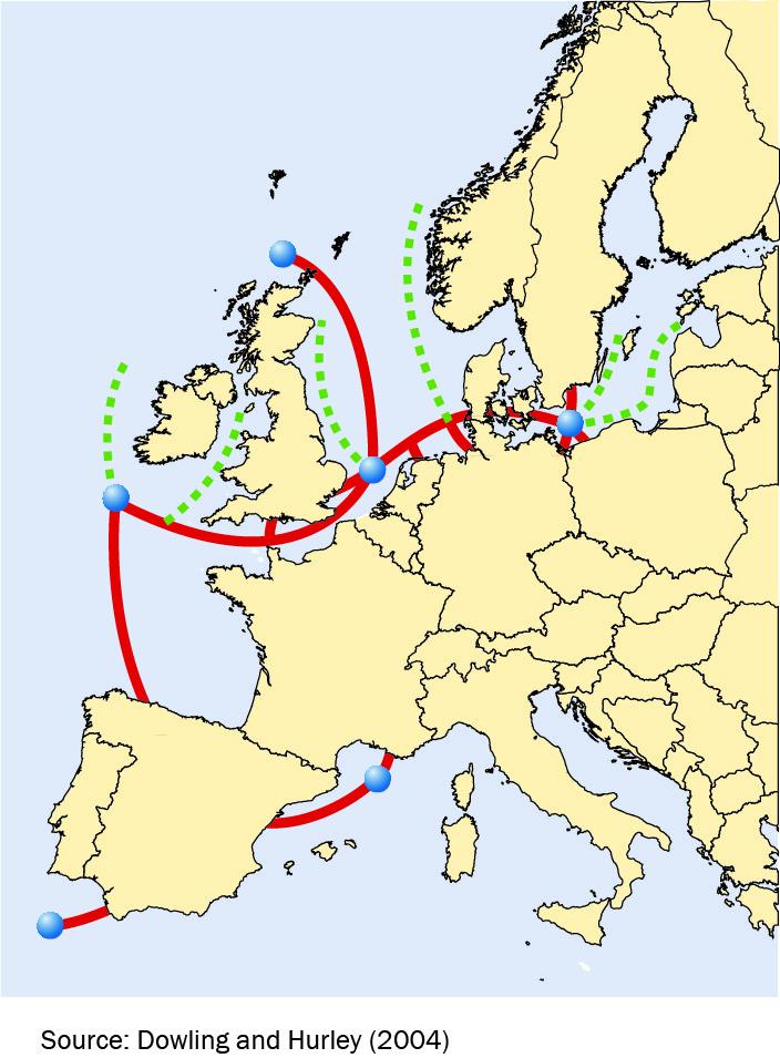 Проект высоковольтной «суперсети» для передачи энергии через Европу