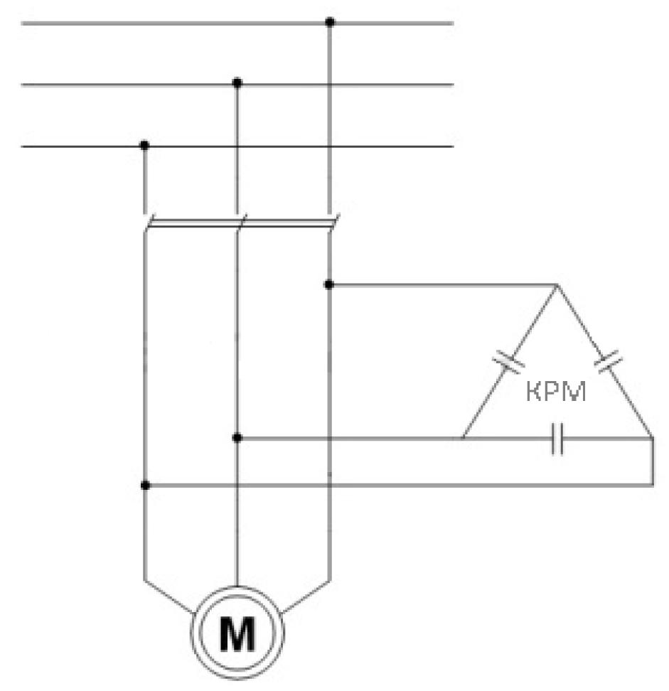 Схема блока торможения электродвигателя