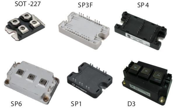Внешний вид SiC транзисторных модулей компании Microsemi