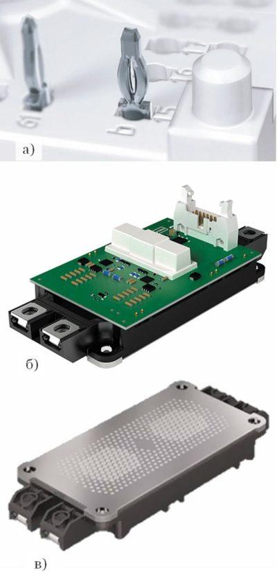 Press-Fit-контакты модуля SEMiX603GB12E4p