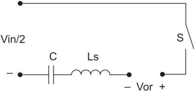 Эквивалентная схема СРП для одного полупериода частоты переключения