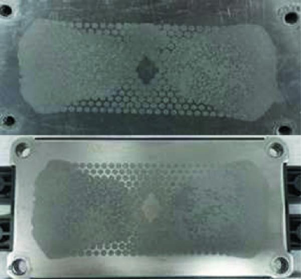 След термопасты на демонтированном модуле и радиаторе после трех термоциклов +20/+85 °С (не оптимально, но допустимо)