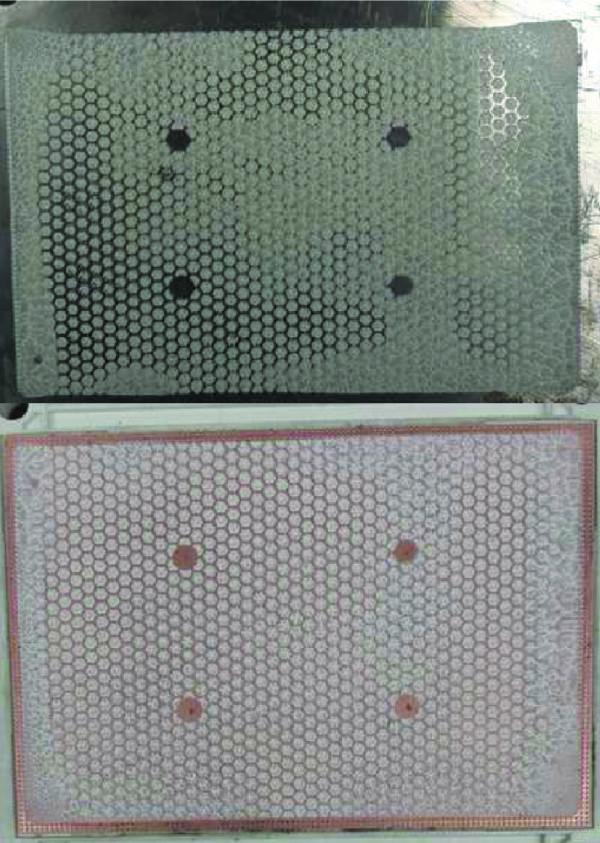 След термопасты на демонтированном модуле и радиаторе после трех термоциклов +20/+85 °С (недопустимо)