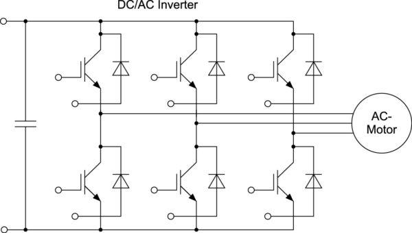Стандартная схема трехфазного привода