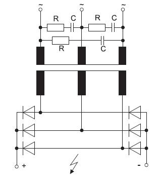 Снаббер в первичной цепи высоковольтного трансформатора
